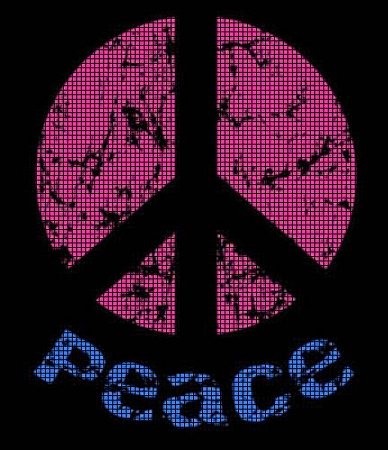 Black Light Peace Sign Crochet Pattern