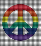 Colorful Peace Symbol Crochet Pattern