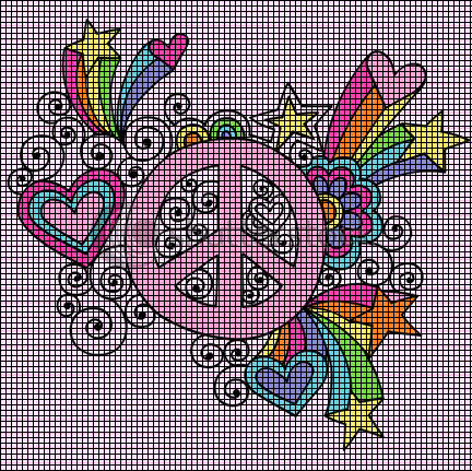 Groovy Peace Sign Crochet Pattern