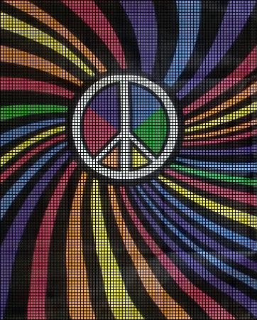 Kalidascope Peace Sign Crochet Pattern