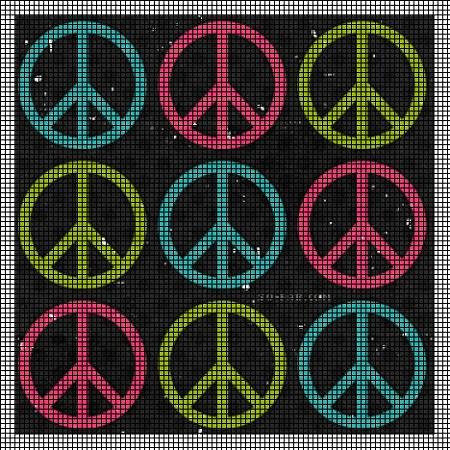 Peace Signs Crochet Pattern
