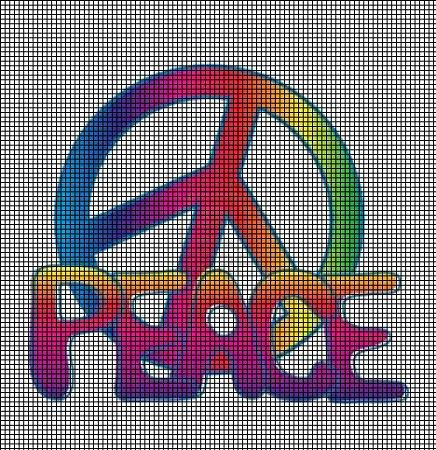 Retro Peace Sign Crochet Pattern