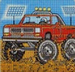 Monster Red Truck Crochet Pattern