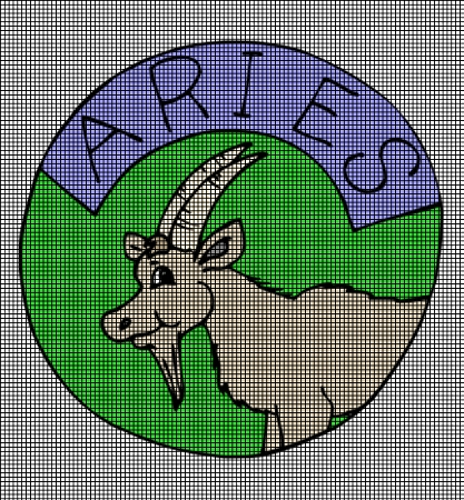 Crochet Zodiac Patterns : ... > Crochet Graph Patterns > Zodiac Signs > Aries Sign Crochet Pat...