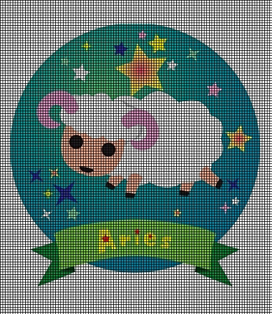 Crochet Patterns For Zodiac Signs : ... > Crochet Graph Patterns > Zodiac Signs > Baby Aries Crochet Pat...