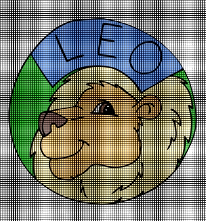 Crochet Patterns For Zodiac Signs : ... Crochet Graph Patterns > Zodiac Signs > Leo The Lion Crochet Pattern