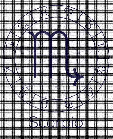 Crochet Patterns For Zodiac Signs : ... Crochet Graph Patterns > Zodiac Signs > Scorpio Sign Crochet Pattern