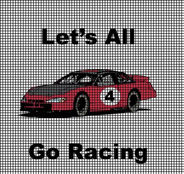Stock Car Go Racing Crochet Pattern