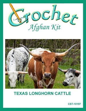 Crochet Pattern For Texas Longhorn Afghan : Texas Longhorn Cattle Crochet Afghan Kit