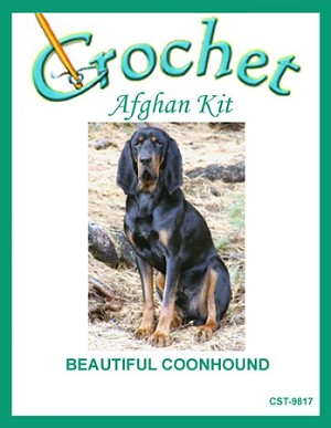 Beautiful Coonhound Crochet Afghan Kit