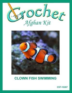 Clown fish swimming crochet afghan kit for Clown fish price