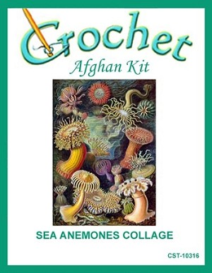 Sea Anemones Collage Crochet Afghan Kit