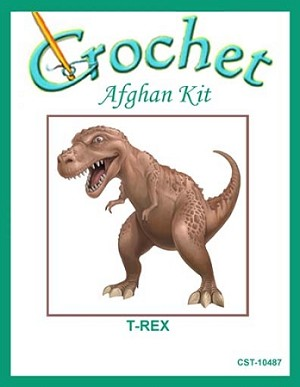 T-Rex Crochet Afghan Kit