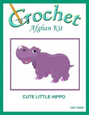 Cute Little Hippo Crochet Afghan Kit