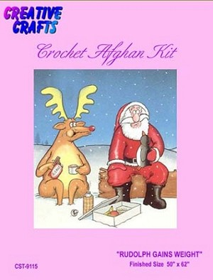 Rudolph Gains Weight Crochet Afghan Kit