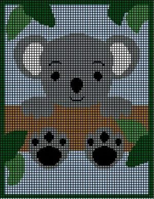 Koala Bear In Tree Crochet Pattern