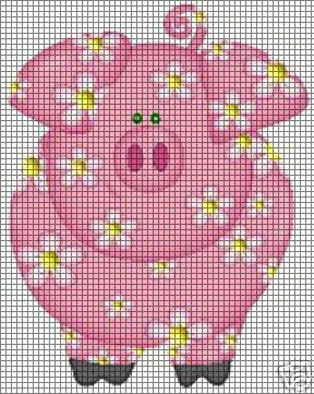 Flower Pig Crochet Pattern