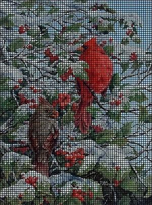 Winter Cardinals Crochet Pattern