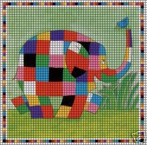 Elmer The Elephant Crochet Pattern