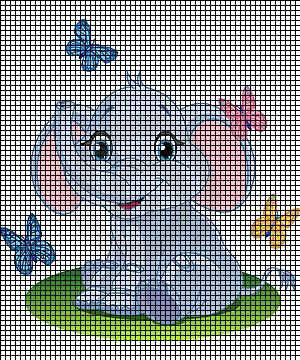 Baby Elephant Amp Butterflies Crochet Pattern