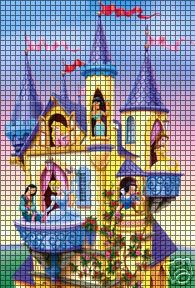 Disney Princess Castle Crochet Pattern