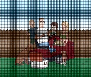 King of the Hill Family Picture Crochet Pattern