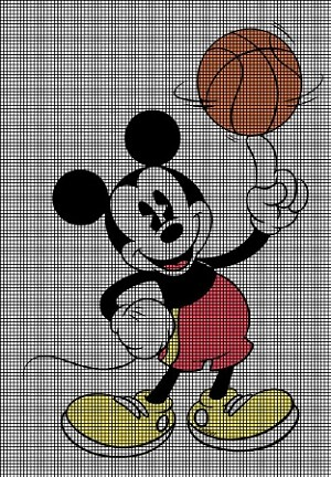 Mickey's Basketball Crochet Pattern