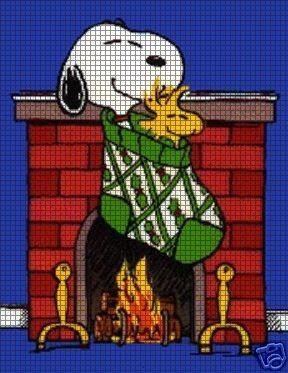 Snoopy Stocking Crochet Pattern