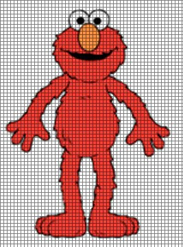Elmo Knitting Pattern : Elmo Crochet Pattern