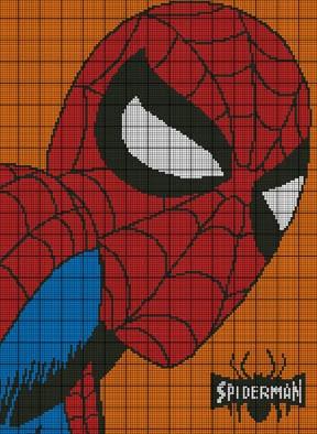 Spiderman Portrait Crochet Pattern