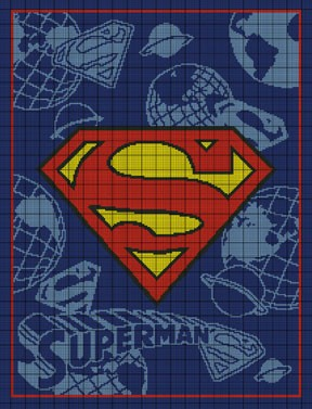 Superman Crochet Pattern