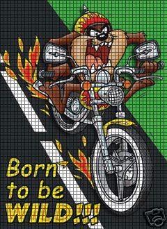 Motorcycle Taz Crochet Pattern | 240 x 330 jpeg 46kB