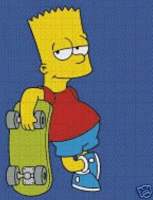 Bart Simpson Skateboard Crochet Pattern