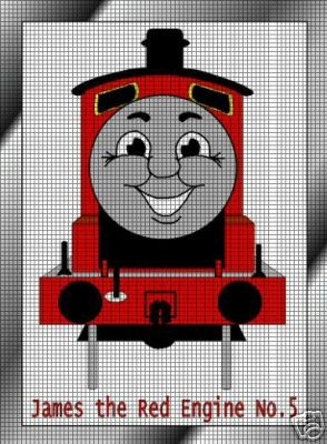 james the red engine crochet pattern