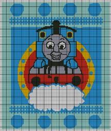 Thomas The Tank Engine Blue Crochet Pattern
