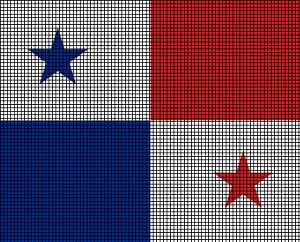 Flag Crochet Pattern - Panama flag