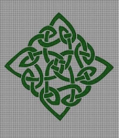 Green Celtic Knot Crochet Pattern