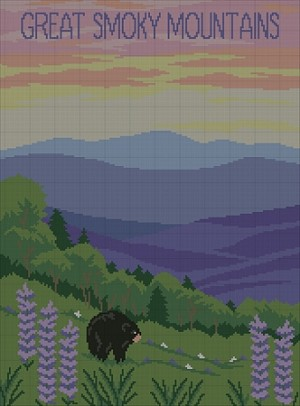 Smoky Mountains Landscape Crochet Pattern