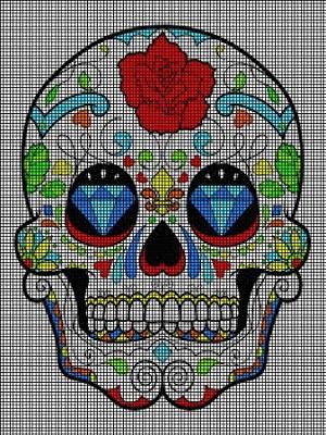 Day Of The Dead Crazy Skull Crochet Pattern