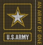 Army Logo Brown Crochet Pattern
