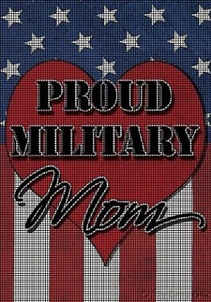 Proud Military Mom Crochet Pattern