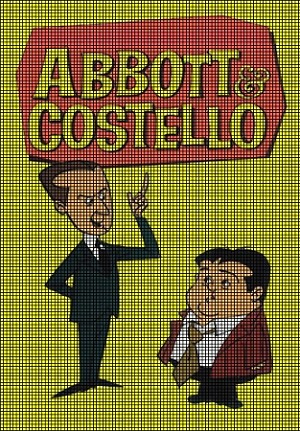 Cartoon Abbott & Costello Crochet Pattern