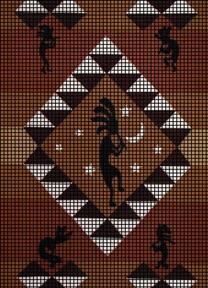 Kokopelli Stars Crochet Pattern