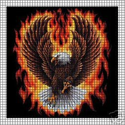 Eagle Flames Crochet Pattern
