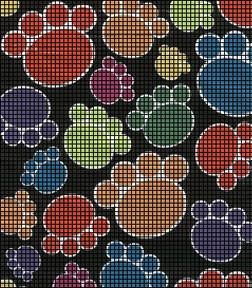 Kitty Paw Prints Crochet Pattern