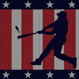 Baseball USA Crochet Pattern