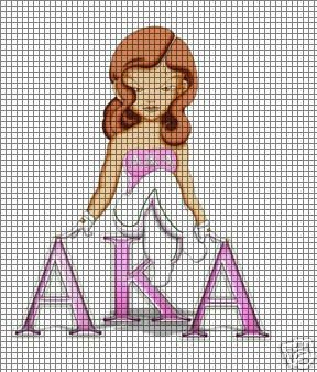 Alpha Kappa Alpha Girl Crochet Pattern