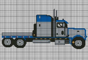 Semi Truck Crochet Pattern