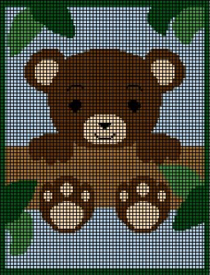 Teddy Bear In Tree Crochet Pattern