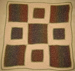 Baby Camo Squares Hand Made Afghan